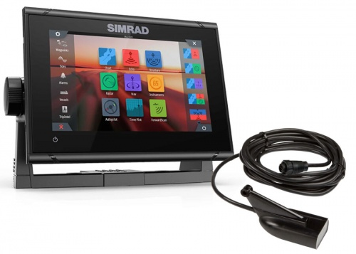 Simrad GO7 XSR 7-inch chartplotter and radar display with global basemap - No Transducer